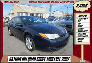 2007 Saturn Ion Quad Coupe TOIT A/C CRUISE MP3