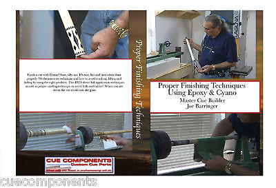 Cue Components Cue Building Parts Supplies Joe Barringer Pool Cue Finishing DVD