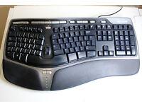 MICROSOFT NATURAL ERGONOMIC COMPUTER USB KEYBOARD 4000 V1.0 MODEL 1048