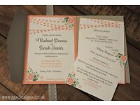 Hand Crafted Bespoke Wedding Invitations