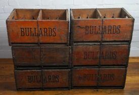 Bullard vintage beer wooden crate box antique kitchen industrial storage