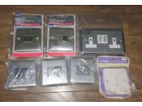 INDOOR SWITCHES AND SOCKETS BUNDLE JOB LOT 13A FUSED SWITCHED LIGHT GANG !!