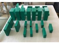 MDF display blocks