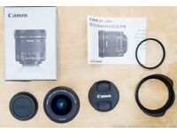 Canon EOS EF-S 10 - 18 mm STM IS Image Stabilised Camera SLR Lens + Hood