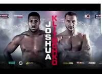 Anthony Joshua vs. Wladimir Klitschko. 6no. Floor Tickets