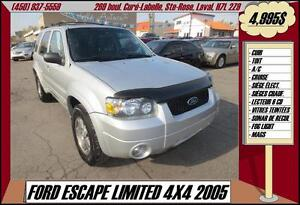 2005 Ford Escape Limited 4X4 CUIR A/C