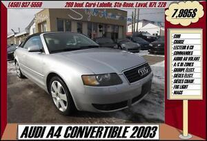 2003 Audi A4 3.0 CONVERTIBLE CUIR