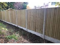 🌳Close Board High Quality Straight Top Wooden Garden Fence Panels