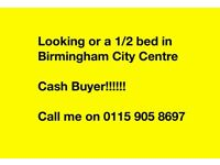 Looking for 1/2 bed in Birmingham City Centre to buy