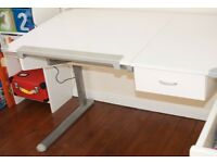 Adjustable DESK & DRAWING TABLE for children white