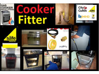 Cooker Installation & FREE Certificate £30 --- Gas Electric Fitter disconnect fires fit connect