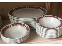 Doulton Steelite Catering Red Marina Plates