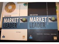 ENGLISH Language 2 books: MARKET LEADER Business English Course & Practice file book & CD/ FT