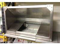 STAINLESS STEEL COMMERCIAL KITCHEN CANOPY (used)