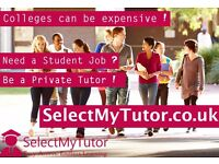 Tutor / Teacher Jobs £45 p/h- Primary, GCSE , A-Level & Degree Private / Online Student Tutor Needed