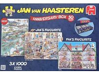 Various wasgij and Jan van Haasteren jigsaws. All like new and all pieces.