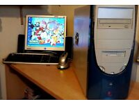 GAMING PC, VINTAGE, COMPLETE AND WIRELESS.