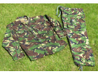 Air cadet DPM, camouflage Combat jacket, shirt and trousers Army, Navy