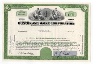 Boston-and-Maine-Railroad-stock-certificate