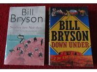 2 Bill Bryson Travel Books Europe & Australia