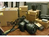 Nikon D90 with lens and extras