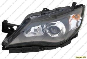 Head Lamp Driver Side Black Halogen Exclude Outback High Quality Subaru Impreza 2008-2011