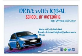 Driving lession manual car for £25ph special discount for block booking.