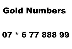 Gold Numbers for Sale 07 * 6 77 888 99