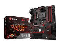 MSI B350 GAMING PLUS AM4 AMD RYZEN/7th Gen A-Series DDR4 GB Lan ATX Motherboard - Black