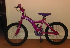 Girls Apollo 18 inch bike. Like new hardly ever been used.