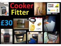 £30 Cooker Installation with Certiticate - Gas Safe Registered Birmingham Corgi installer