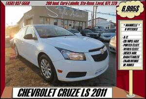 2011 Chevrolet Cruze LS  A/C - CD/MP3/AUX