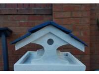 Birdhouse garden wood feature