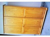 Triple Door Wardrobe In Antique Pine, New & Boxed