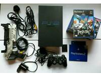 Sony ps2 console large BUNDLE light gun and more!!