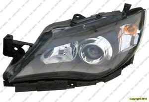 Head Light Driver Side Black Halogen Exclude Outback High Quality Subaru Impreza 2008-2011