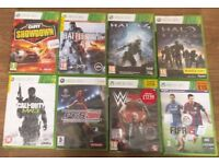 8 XBox 360 games in good condition