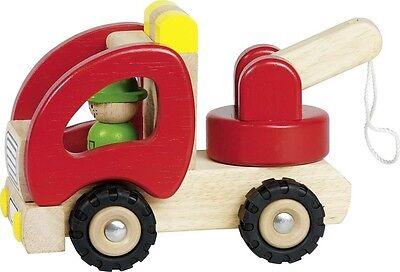 Abschleppwagen, goki 55965, Holzspielzeug, Auto aus Holz