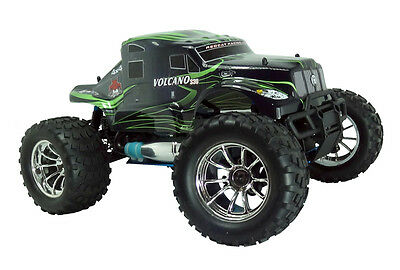 Painted Green Semi Body For Redcat Volcano S30 1/10 Nitro RC Monster Truck