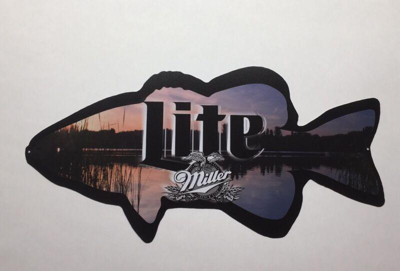 Miller Lite Fishing Beer Sign