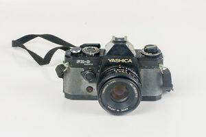 YASHICA FX-D QUARTZ CAMERA, YASHICA LENS ML 50mm 1:2 Made in Japan