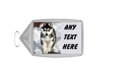 Siberian Husky Personalised Keyring