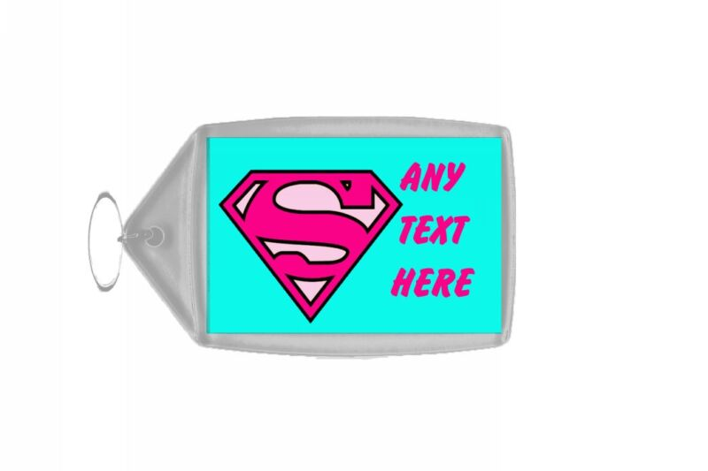 Superwoman Personalised Keyring