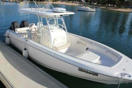Boston Whaler 320 OUTRAGE with twin 250HP Mercury verados Bibra Lake Cockburn Area Preview