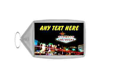 Las Vegas Personalised Keyring