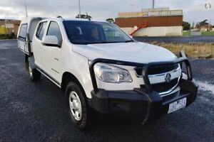 2012 Holden Colorado RG LX (4x4) White 6 Speed Automatic Crew Cab Chassis Yarram Wellington Area Preview