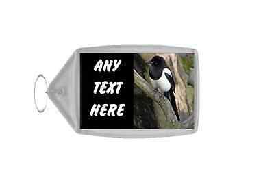Magpie Personalised Keyring