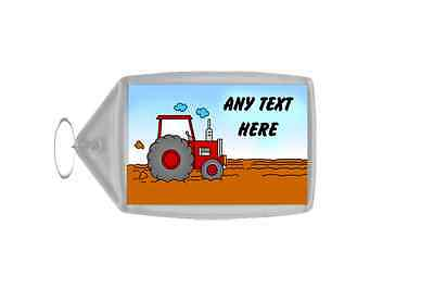 Red Tractor Personalised Keyring
