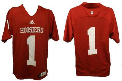New Indiana Hoosiers #1 Mens Sizes S-M-L-XL-2XL Adidas Red Football -