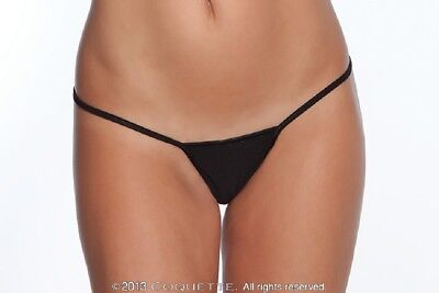 Petite Low Rise Thong (Coquette Lingerie La Petite Low Rise G-String Thong Panties. Extra Large. Black.)